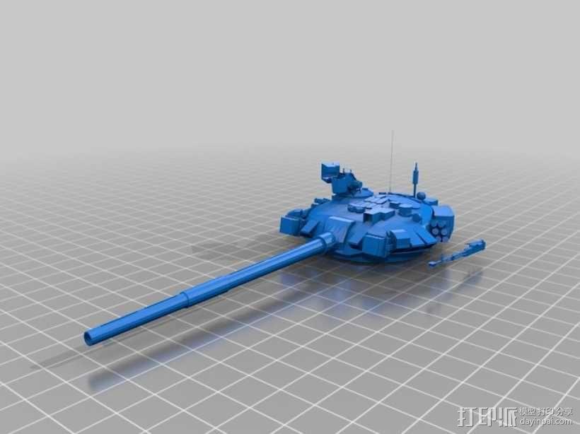 T-90坦克 3D模型  图3
