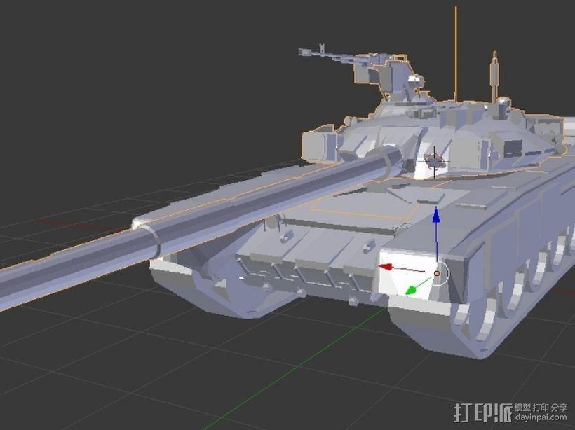 T-90坦克 3D模型  图4