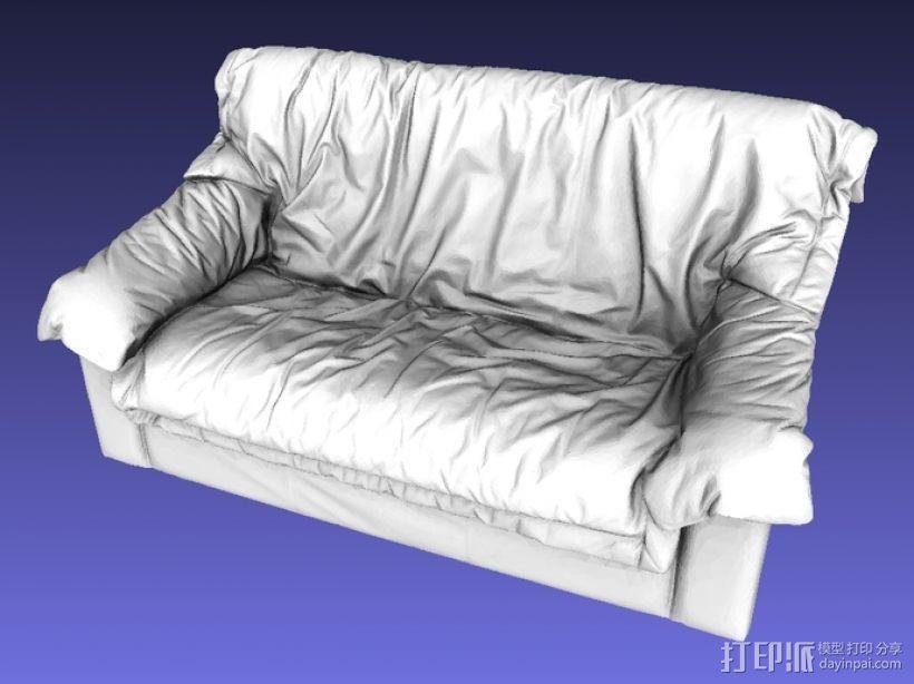 皮沙发 3D模型  图1