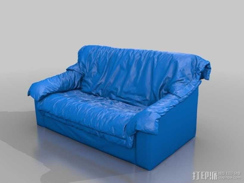皮沙发 3D模型  图2
