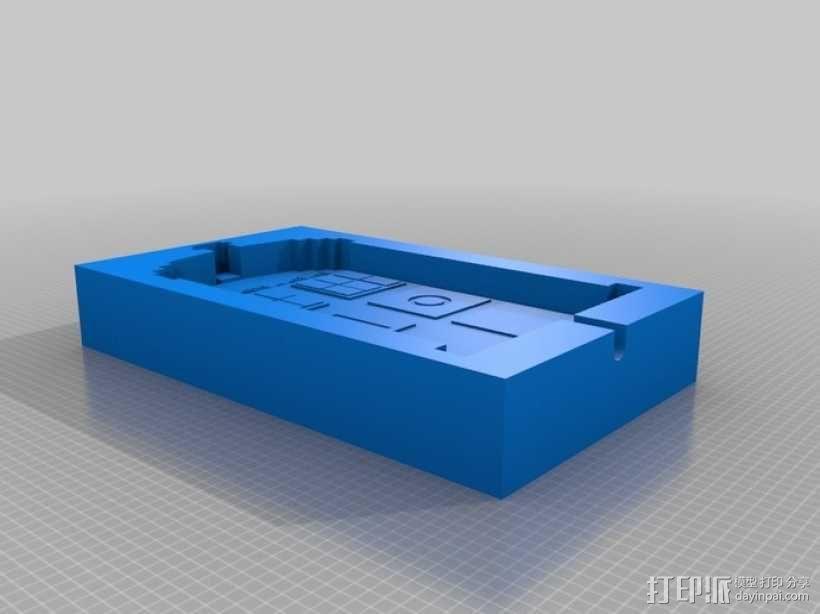 塔迪斯警察亭制作模具 3D模型  图1