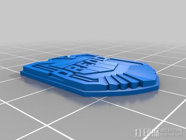 超时空战警徽章 3D模型  图2