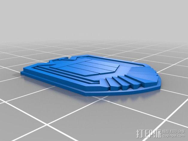 超时空战警徽章 3D模型  图3