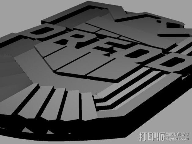 超时空战警徽章 3D模型  图5