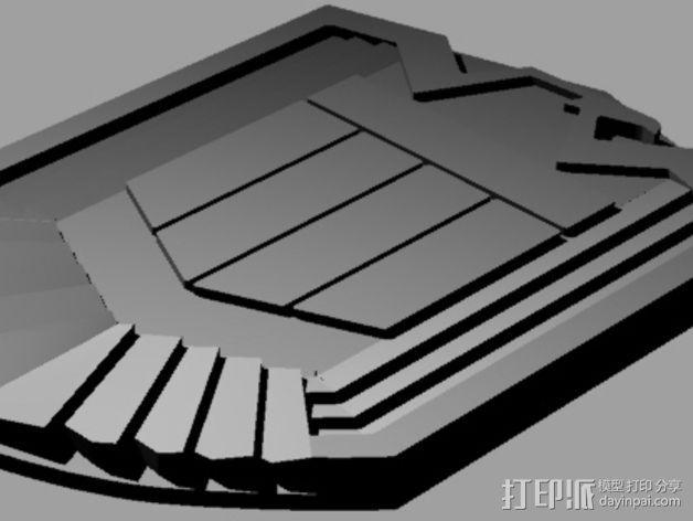 超时空战警徽章 3D模型  图4