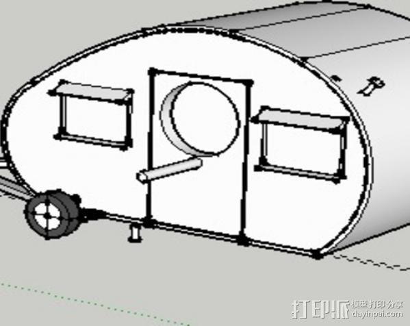 大篷车鸟屋 3D模型  图1
