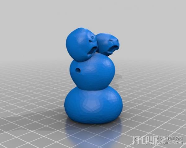 雪人怪 3D模型  图2