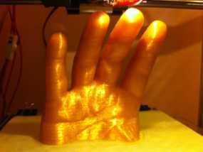 手 四指 3D模型
