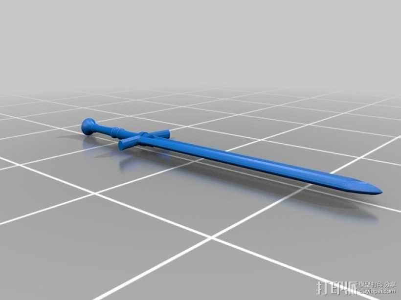 斯塔克家族的巨剑 3D模型  图1