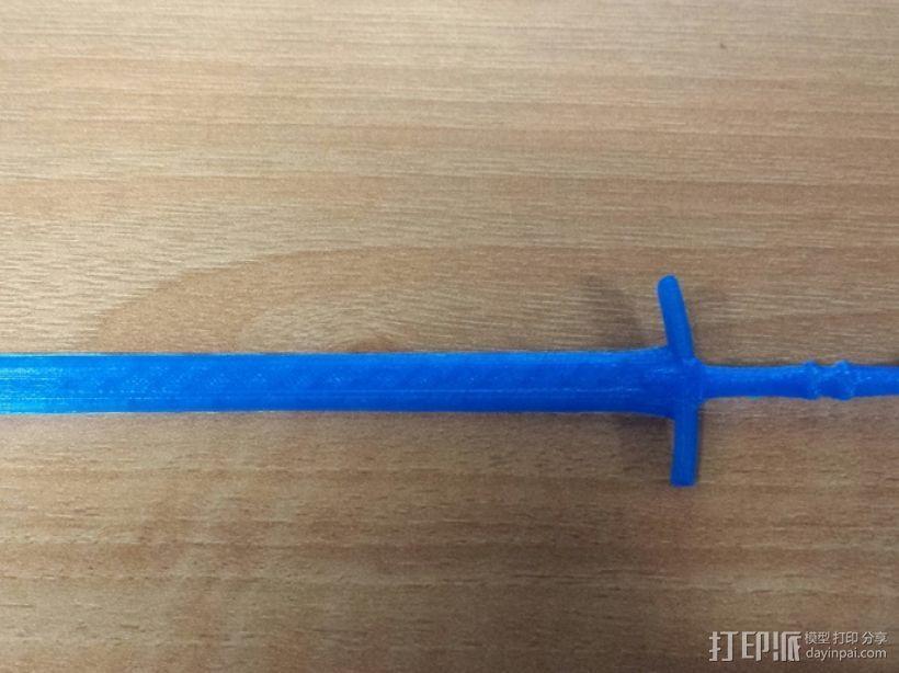 斯塔克家族的巨剑 3D模型  图2