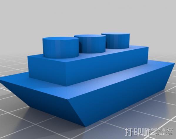 小船 3D模型  图2