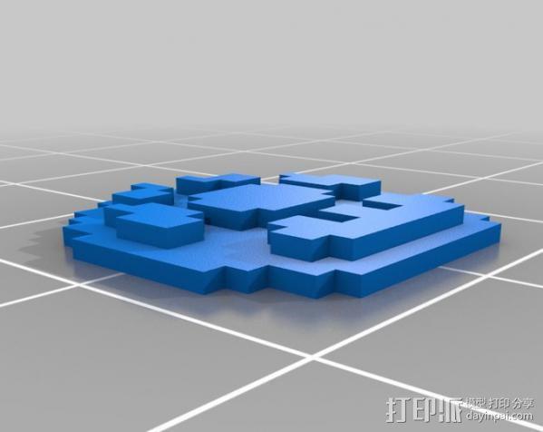 像素蘑菇 3D模型  图2