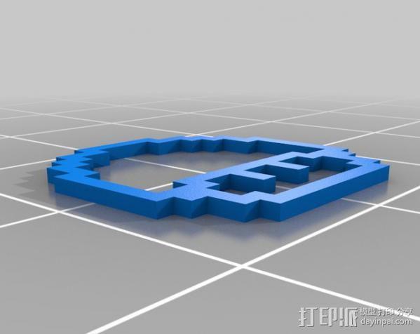 像素蘑菇 3D模型  图3