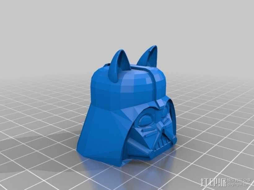 达斯维达kitty猫 3D模型  图2