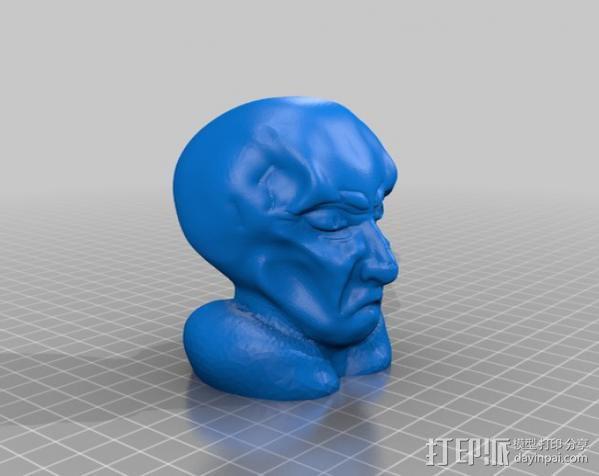 星际迷航Balok人物半身像  3D模型  图2