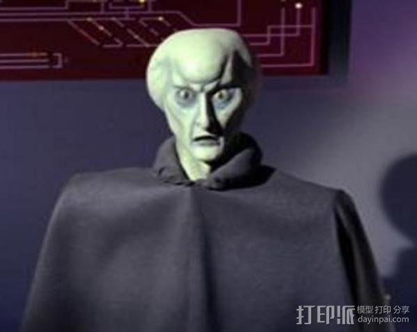 星际迷航Balok人物半身像  3D模型  图4