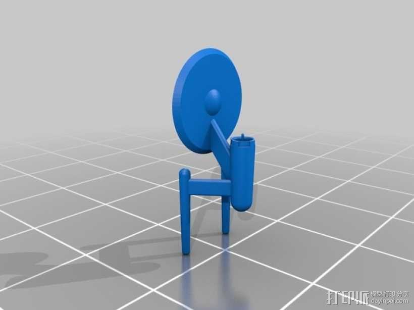 进取号飞船 3D模型  图1