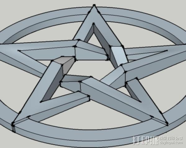 五角星 3D模型  图2