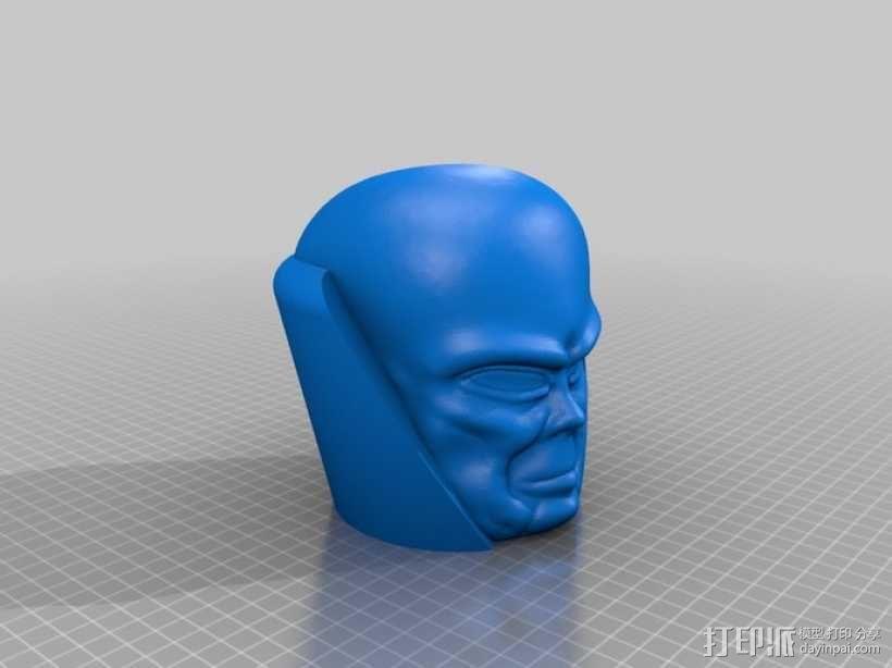 观测者Uatu 人物头部模型 3D模型  图2