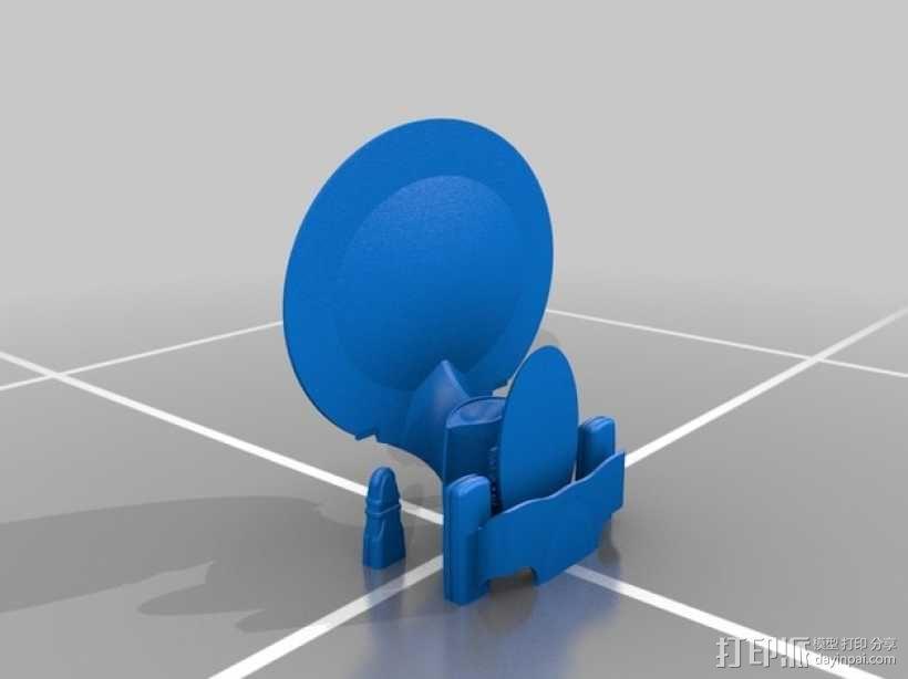 NCC 1701-D进取号联邦星舰 3D模型  图2