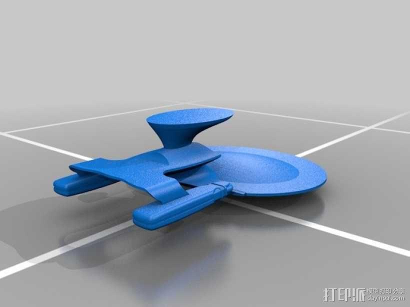 NCC 1701-D进取号联邦星舰 3D模型  图3