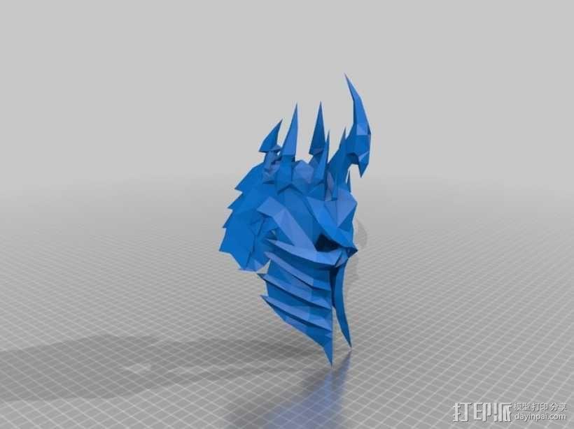 巫妖王头盔 3D模型  图2