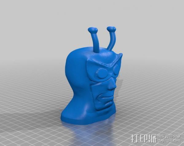 冒险兄弟Henchman人物头像模型 3D模型  图2
