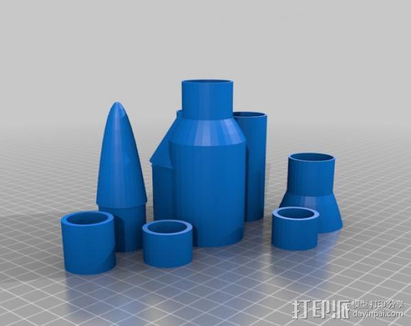 火箭 3D模型  图2