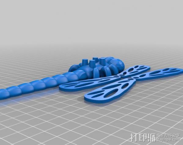 蜻蜓 3D模型  图2