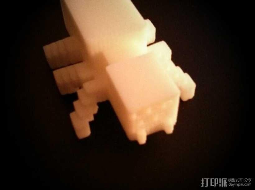 我的世界 蜘蛛模型 3D模型  图1