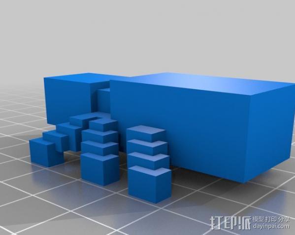 我的世界 蜘蛛模型 3D模型  图2