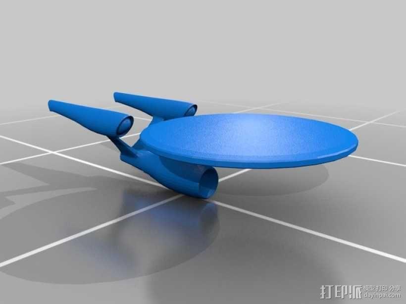 NCC-1701进取号星舰 3D模型  图1