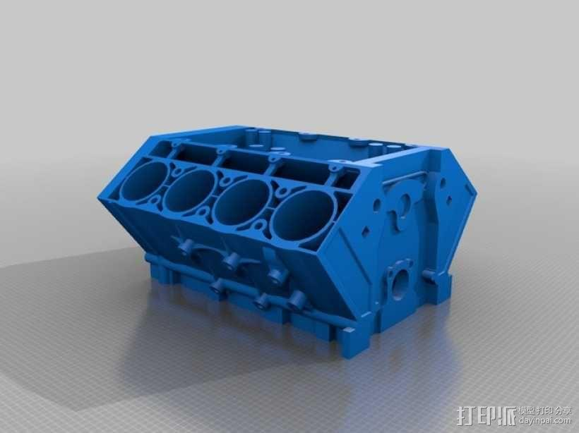 V8 发动机 3D模型  图1