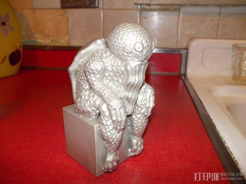 克苏鲁雕塑 3D模型  图1