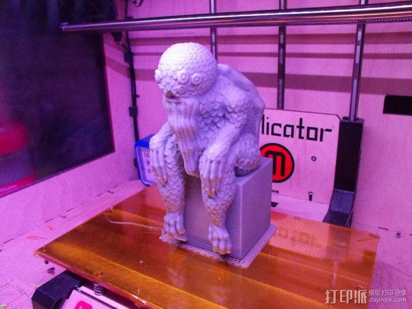 克苏鲁雕塑 3D模型  图3