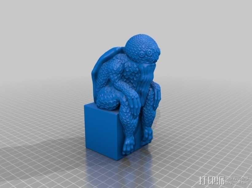 克苏鲁雕塑 3D模型  图5
