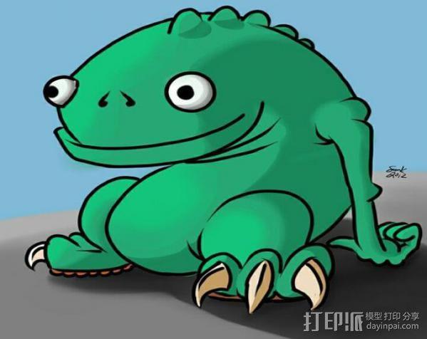 小青蛙blinky 3D模型  图3