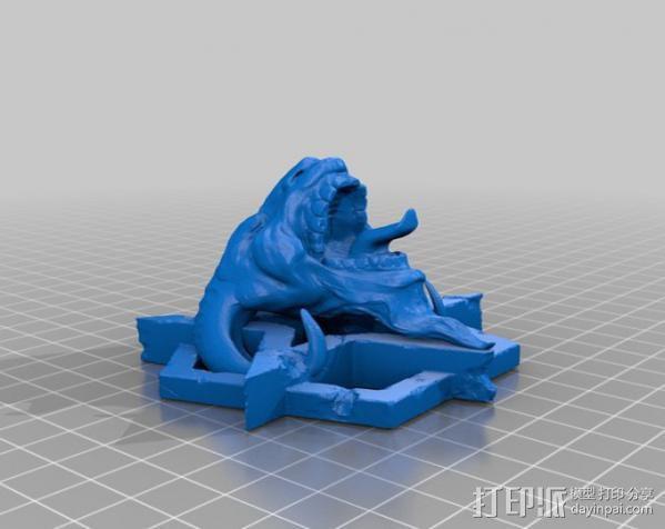 山羊头部模型 3D模型  图2