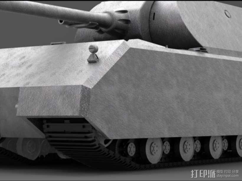 鼠式重型坦克 3D模型  图1