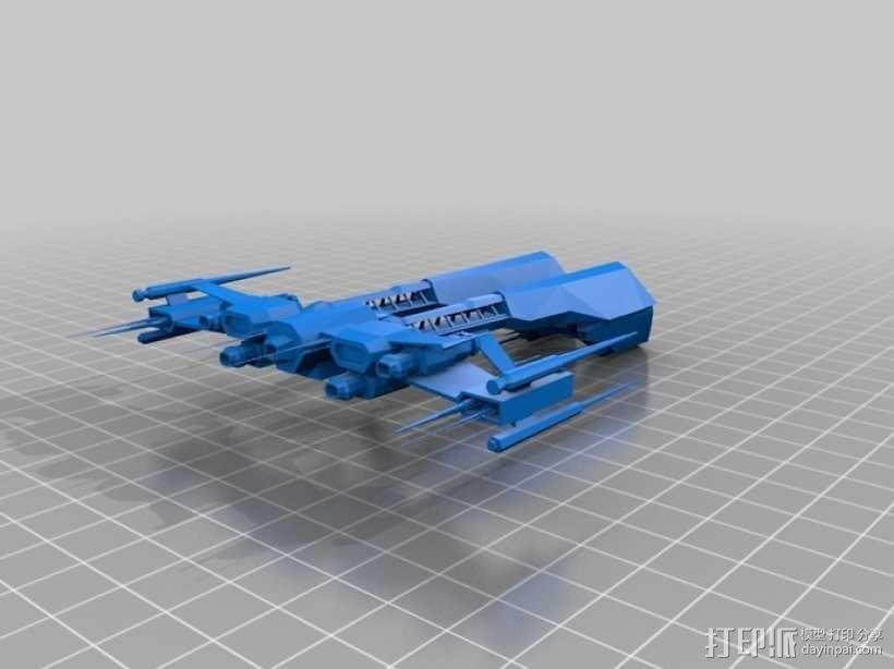 星战前夜 护卫舰 3D模型  图1
