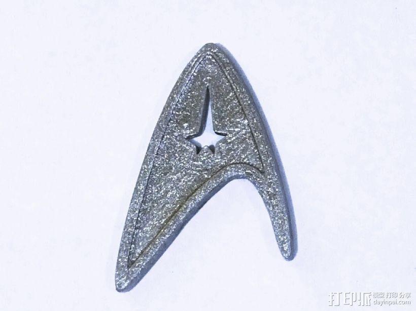 星际迷航标志徽章 3D模型  图1