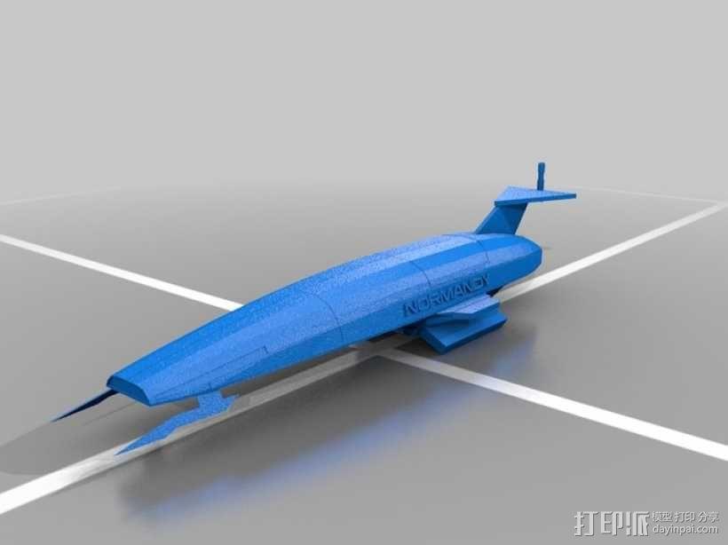 SSV Normandy SR-1诺曼底号太空飞船 3D模型  图5