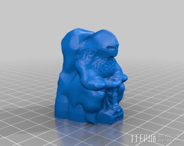 雷神雕塑 3D模型  图3
