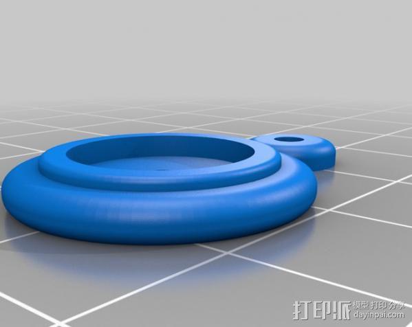 木质火车车轮 3D模型  图1