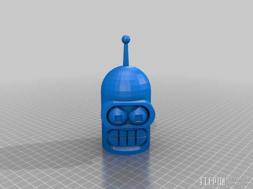 Bender机器人头部 3D模型  图1