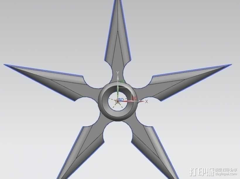 忍者飞镖 3D模型  图5