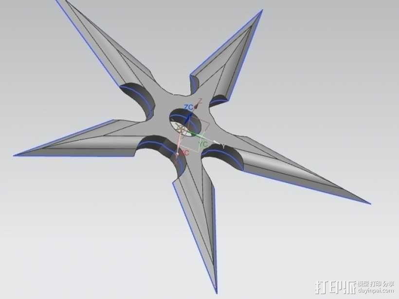 忍者飞镖 3D模型  图9