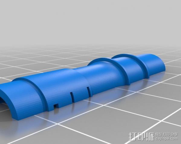 加农炮 3D模型  图1