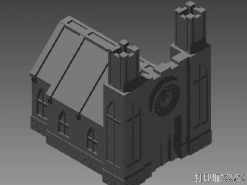 教堂 建筑模型 3D模型  图1