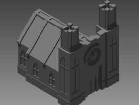 教堂 建筑模型 3D模型